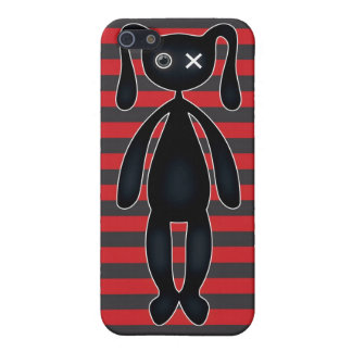 Goth Red and Black Bunny iPhone 5/5S Cover