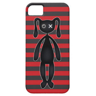 Goth Red and Black Bunny iPhone 5 Case