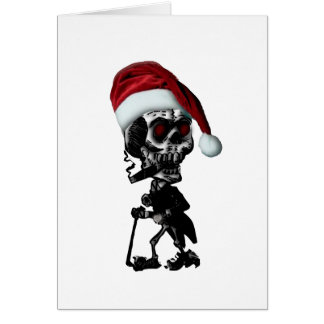 Goth Santa Skeleton Christmas Card