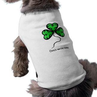 Goth shamrock St. Patrick's day Doggie Tee