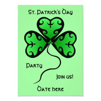 Goth shamrock St. Patrick's day party 13 Cm X 18 Cm Invitation Card
