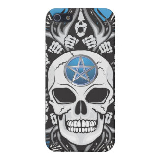 Goth Skull - Blue Cover For iPhone 5/5S