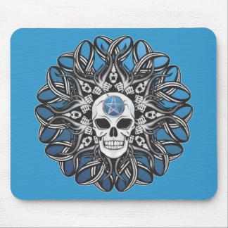 Goth Skull - Blue Mousepad