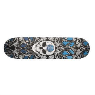 Goth Skull - Blue Skate Decks