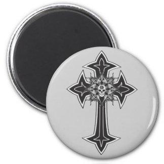 Goth Skull Cross Magnet