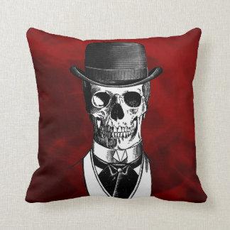 Goth Skull Cushion
