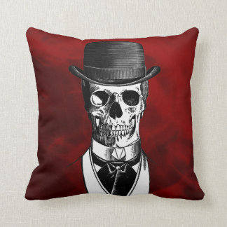 Goth Skull Throw Pillows