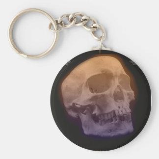 Goth Skull Head Keychain