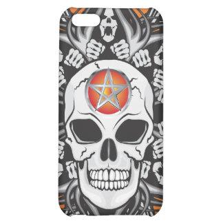 Goth Skull - Orange iPhone 5C Cases