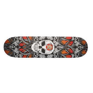 Goth Skull - Orange skate Skateboards