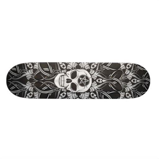Goth Skull Custom Skateboard