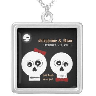 Goth Skulls Wedding Necklace