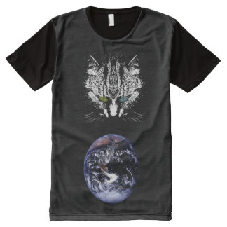 Goth Space Cat Lover T-Shirt