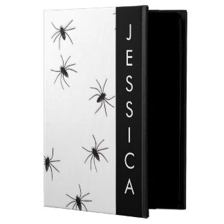 Goth Spider Photo with Custom Name Case For iPad Air