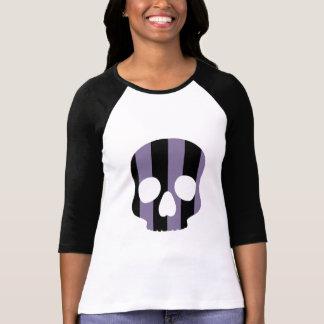 Goth striped skull T-Shirt