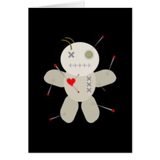 Goth Voodoo Doll Breakup Card