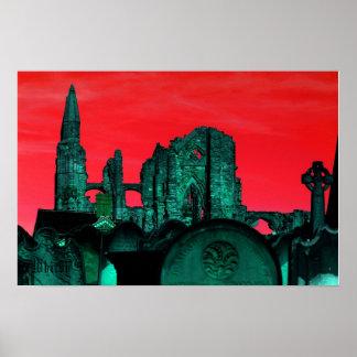 Goth Whitby Abbey Print