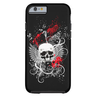 Goth Winged Grunge Skull iPhone 6 case red