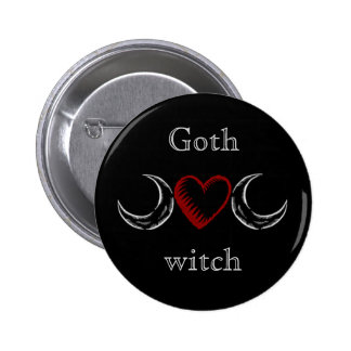 Goth & witch 6 cm round badge