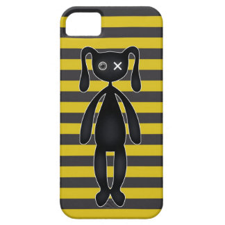 Goth Yellow and Black Bunny Barely There iPhone 5 Case