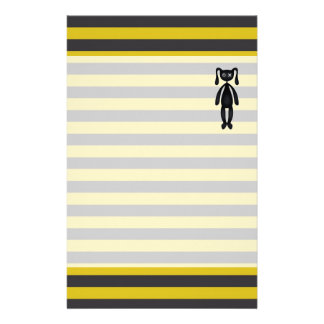 Goth Yellow and Black Bunny Stationery