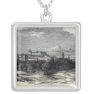 Gotha, engraved by W.J. Linton Silver Plated Necklace