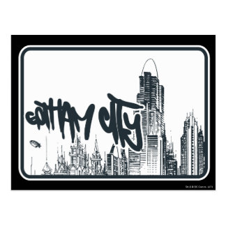 Gotham City Sticker Postcard