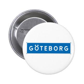 Gothenburg, Swedish road sign 6 Cm Round Badge
