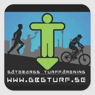 Gothenburg's Turf association - Klistermärke Square Sticker