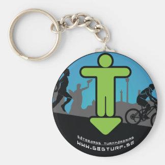 Gothenburg's Turf association - Nyckelring Basic Round Button Key Ring