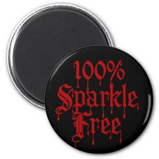 Gothic 100% Sparkle Free 6 Cm Round Magnet