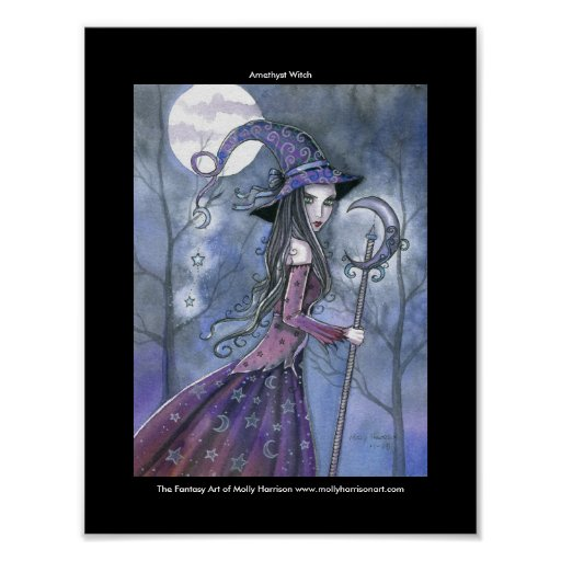 Gothic Amethyst Witch Poster by Molly Harrison