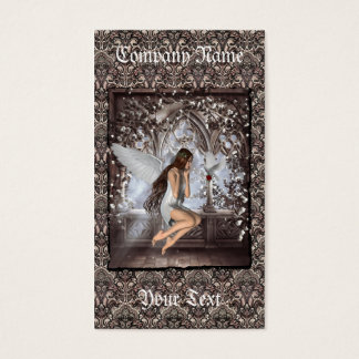 Gothic Angel and Her Dove Business Card