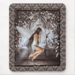 Gothic Angel and Her Dove Mousepad