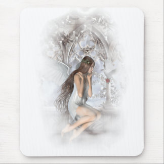 Gothic Angel and Her Dove Vignette Mouse Mat