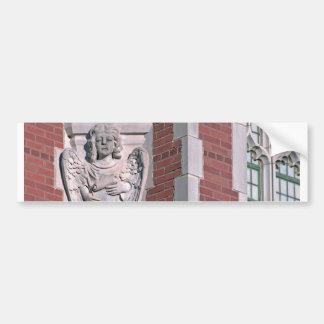 Gothic Angel and Window Bumper Sticker