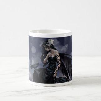 Gothic angel basic white mug