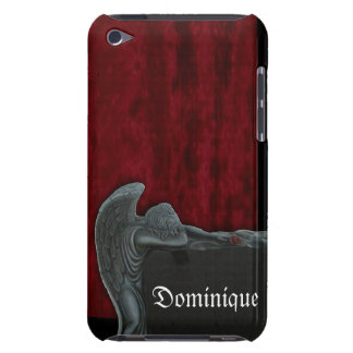 Gothic Angel on Red Velvet Pattern Barely There iPod Cover