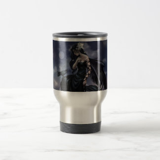 Gothic angel stainless steel travel mug