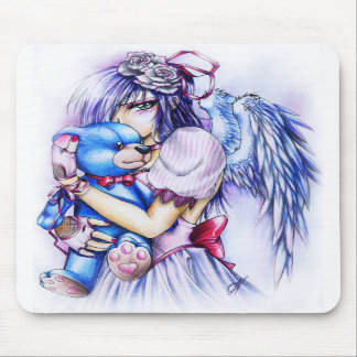 Gothic Angle With A Teddy Mousepads