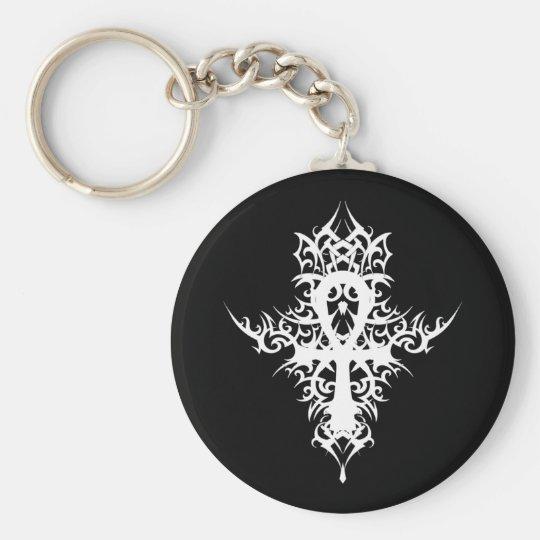 Gothic Ankh Basic Round Button Key Ring