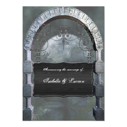 Gothic Arch Plaque Vampire Goth Wedding Card