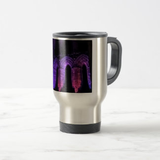 Gothic arches old ruined Whitby abbey Travel Mug