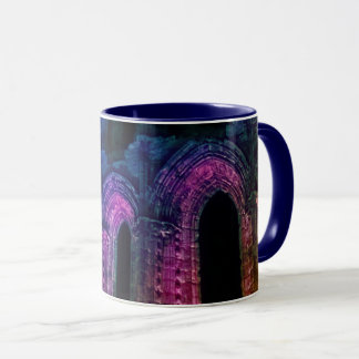 Gothic arches. Whitby Abbey old ruins Mug
