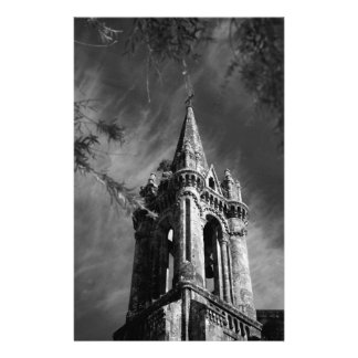 Gothic architecture personalized stationery