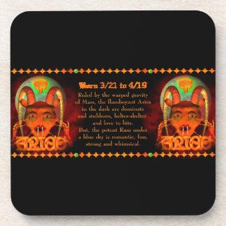 Gothic Aries zodiac astrology by Valxart.com Beverage Coaster