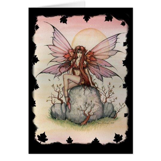 Gothic Autumn Fall Faerie Fairy Greeting Card