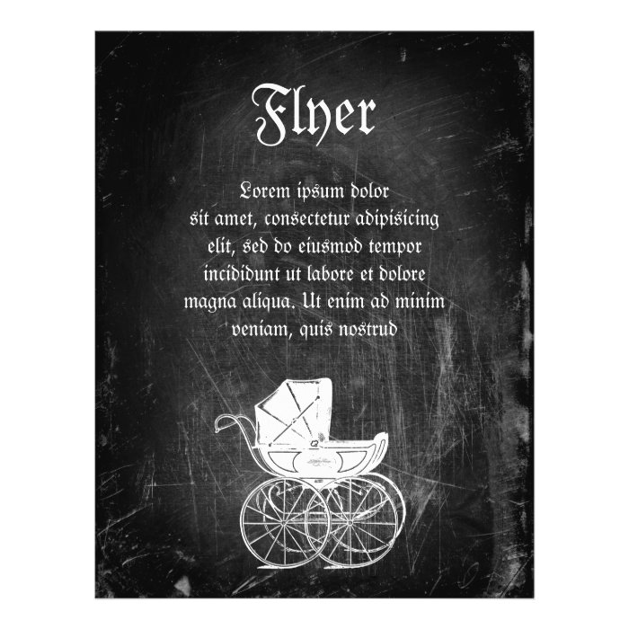 Gothic Baby Carriage 21.5 Cm X 28 Cm Flyer