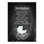 """Gothic Baby Carriage 5"""" X 7"""" Invitation Card"""