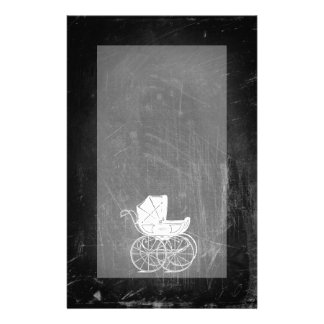 Gothic Baby Carriage Personalized Stationery